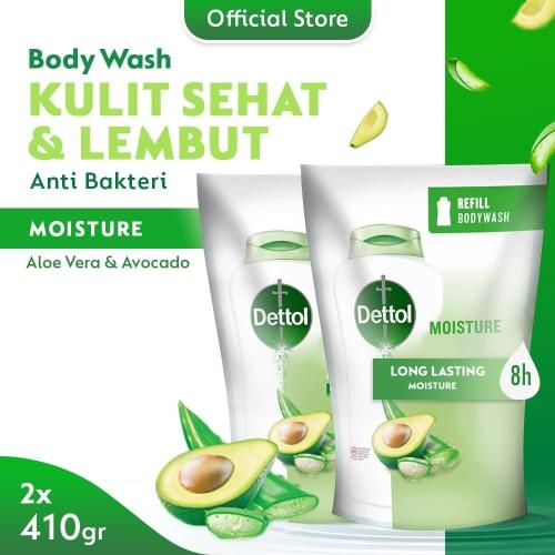 Foto Produk Dettol Sabun Mandi Cair Aloe Vera & Avocado 410 gr Refill (2 pcs) dari Dettol Official Store