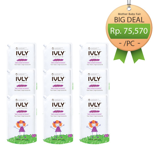 Foto Produk Set of 9PCS - Detergent / Softener 1200ML - Tiare Flower |VCO - Detergent dari Ivly Nature
