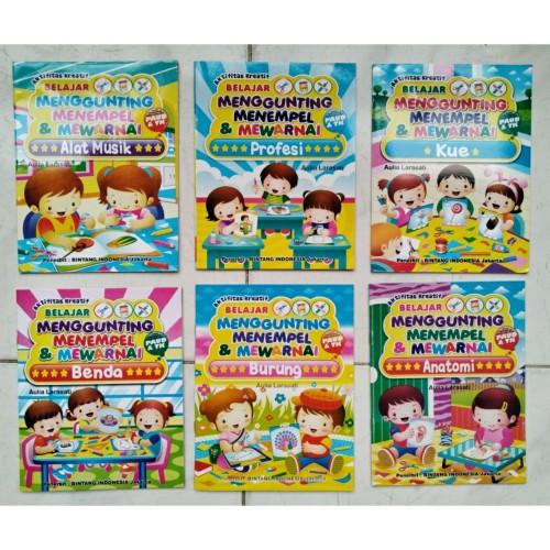 Foto Produk Buku Gunting Tempel Kecil Aktivitas Menggunting Menempel Anak - Benda dari heppyshop heppy
