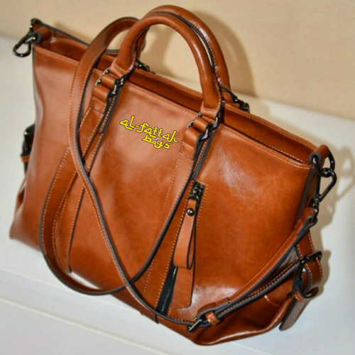 Foto Produk Tas wanita import Tas wanita tas fossil tas wanita branded / 34 MERAH - COKLAT dari KADO TAS IMPORT