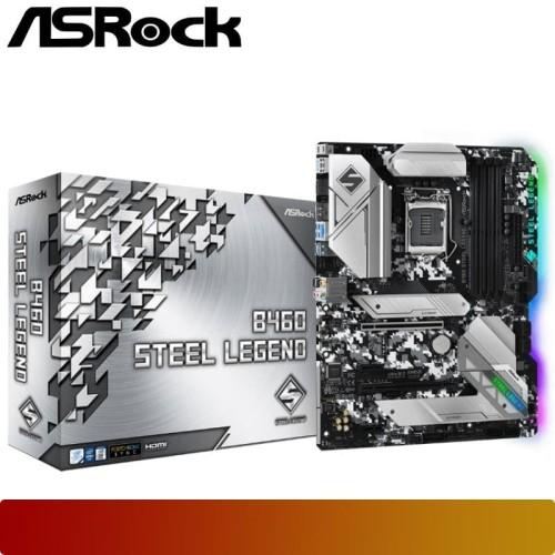 Foto Produk Motherboard ASROCK - B460 STEEL LEGEND Comet Lake-S 1200 ATX dari Nano Komputer