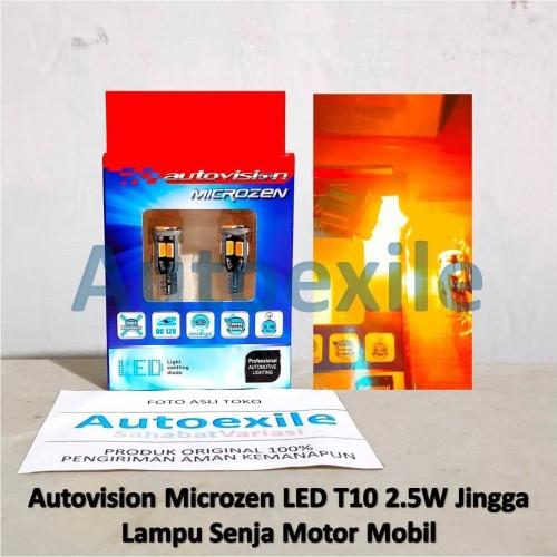 Foto Produk Autovision LED T10 W5W 2.5W Amber Jingga Lampu Senja Kota Motor Mobil dari Autoexile