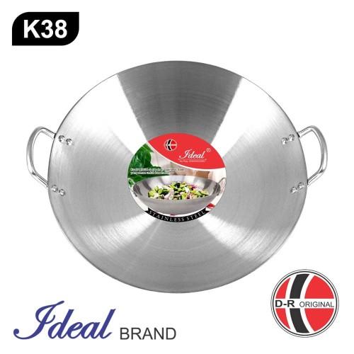 Foto Produk IDEAL K38 Wajan / Kuali Penggorengan (Wok Pan) 38 cm dari IDEAL Official