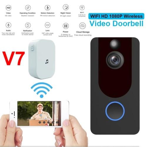 Foto Produk Smart wireless video intercom doorbell PIR IP Camera Night vision - V7 dari EtalaseBelanja