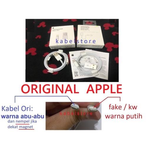 Foto Produk Original USB Iphone X 8 8+ 7 7+ 6s 6 plus ipad ipod Kabel Data Charger dari Kabel Store -KabelApple