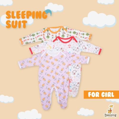 Foto Produk Baju Bayi-Sleeping Suit-Mixmotif Print-Blessingbabywear-size 0-3 bulan - 0-3 Bulan dari BLESSING Babywear