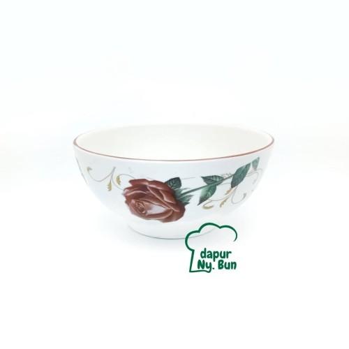Foto Produk Mangkok Nasi Besar Motif Golden Rose 02 Ukuran 6 Inch dari Dapur Ny.Bun