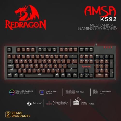 Foto Produk Redragon K592 Mechanical Gaming Keyboard Optical AMSA dari manekistore