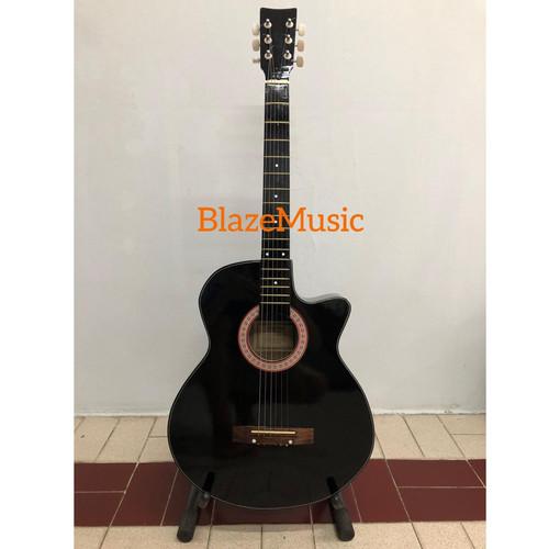 Foto Produk Gitar akustik pemula Hitam MURAH Paket Lengkap - Hitam dari Blaze Music