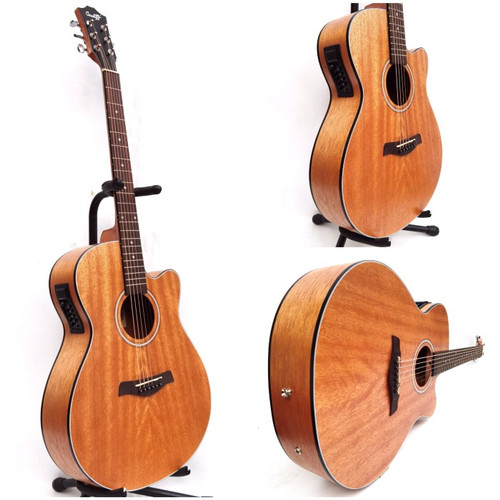 Foto Produk Gitar Akustik Elektrik Cowboy GWC-235NS Original Import - Paket A dari vero music store
