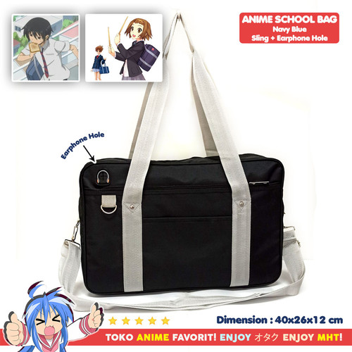 Foto Produk Tas SMA / Sekolah Jepang - Tas Anime - Anime Koukou Bag HQ - Hitam dari MyHobbyTown