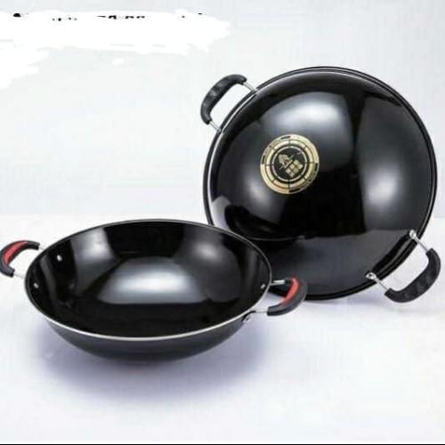 Foto Produk WAJAN ENAMEL 34 cm / Wajan / Kuali / Penggorengan Anti Gores dari PELANGI15 ACCESORIES