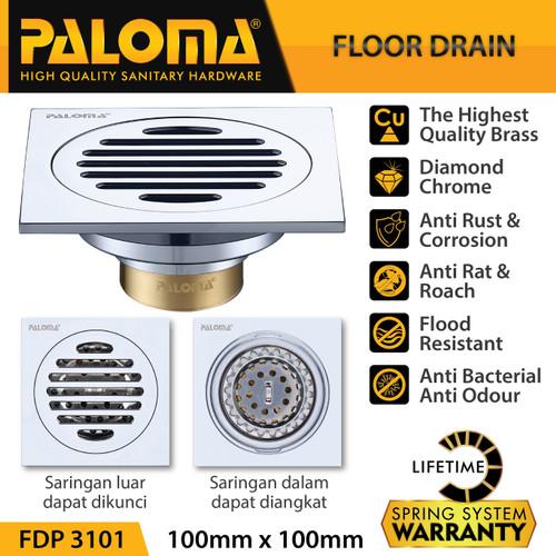 Foto Produk PALOMA FDP 3101 Floor Drain Strainer Saringan Got Kamar Mandi Anti Bau dari PALOMA HARDWARE