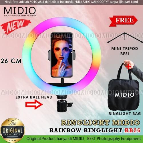 Foto Produk Ring Light Rainbow Midio RB26 Ring Light RGB TikTok Youtuber dari Midio
