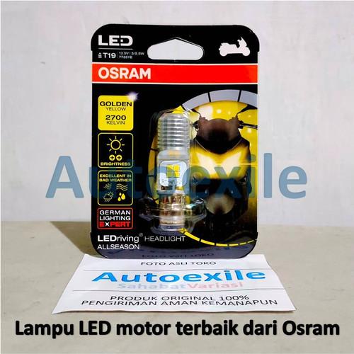 Foto Produk Osram LED T19 H6 M5 Kaki1 All Season Yellow Kuning AC DC Lampu Motor dari Autoexile