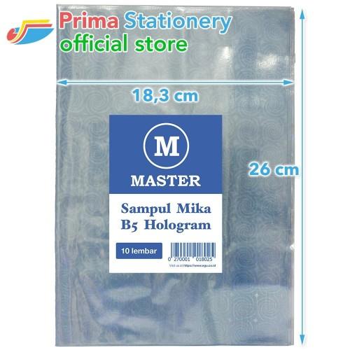 Foto Produk Master Sampul Buku Mika Boxy Hologram - Plastik Book Cover dari Prima Stationery