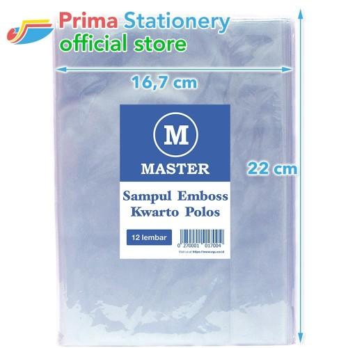 Foto Produk Master Sampul Buku Emboss Kwarto Polos Plastik Book Doff isi 12 lbr dari Prima Stationery