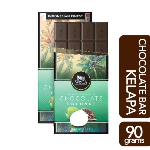 Foto Produk WoCA Premium Chocolate Bar - Cokelat Batang Rasa Kelapa - 90 gram dari Arutala Online Co.