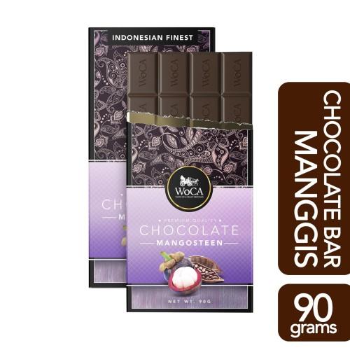 Foto Produk WoCA Premium Chocolate Bar - Cokelat Batang Rasa Manggis - 90 gram dari Arutala Online Co.