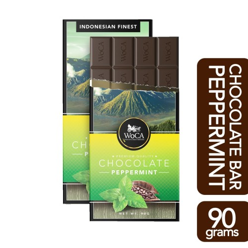 Foto Produk WoCA Premium Chocolate Bar - Cokelat Batang Rasa Mint - 90 gram dari Arutala Online Co.