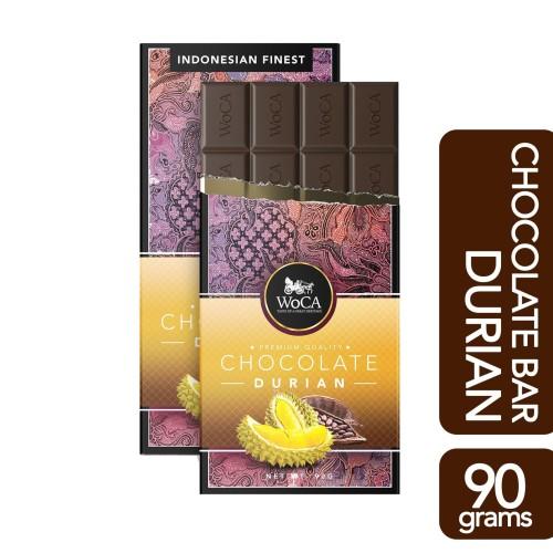 Foto Produk WoCA Premium Chocolate Bar - Cokelat Batang Rasa Durian - 90 gram dari Arutala Online Co.