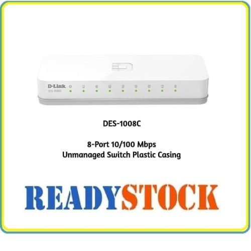 Foto Produk D-LINK DES-1008C Switch 8 Port 10-100Mbps dari READY STOCK JARINGAN