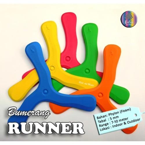 Foto Produk Bumerang Boomerang Runner Mainan Anak Edukatif Tradisional Sport Fun dari Bilik Art Media