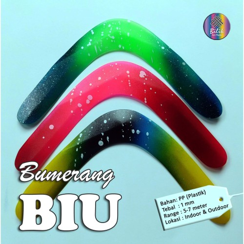 Foto Produk Mainan Anak Edukatif Tradisional Bumerang Boomerang Biu dari Bilik Art Media