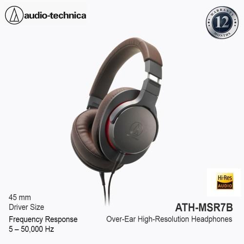 Foto Produk Audio Technica ATH-MSR7B Over Ear High Resolution Headphone -Gun Metal dari Audio-Technica Official
