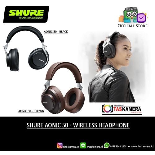 Foto Produk SHURE AONIC 50 Wireless Headphones - Noise Cancelling Headphones dari taskamera-id