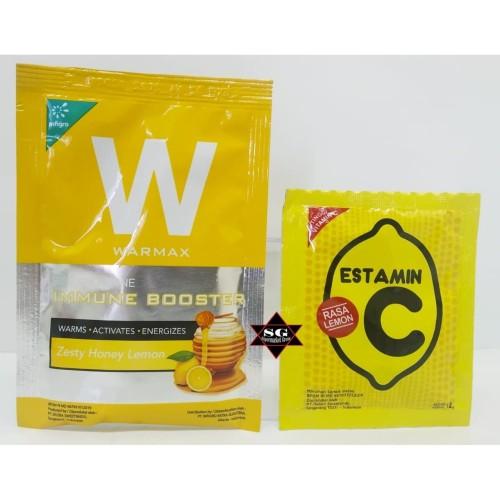Foto Produk WARMAX HERBAL alami anti oksidan 1 sachet & Estamin rasa lemon Paket dari supermarket grosir