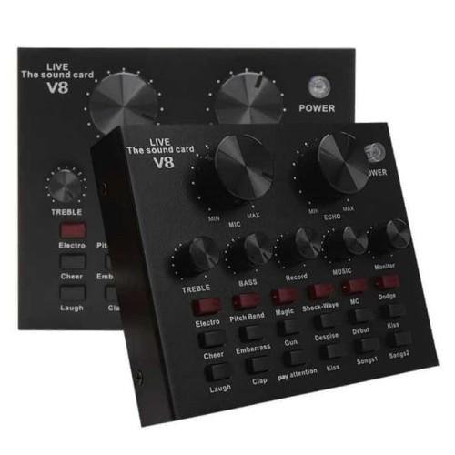 Foto Produk Sound card V8 Mixer SoundCard V8 MIXER Audio USB External Soundcard dari mix acc888