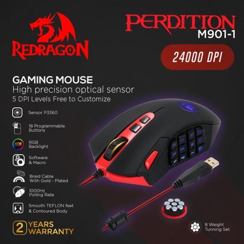 Foto Produk Redragon Gaming Mouse PERDITION 2 - M901-1 dari REDRAGON INDONESIA