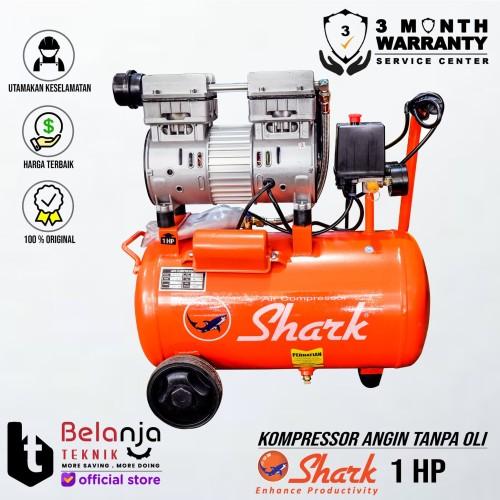 Foto Produk Shark 1 HP 24 Liter Oilless AIR COMPRESSOR KOMPRESOR ANGIN TANPA OLI dari Belanja Teknik