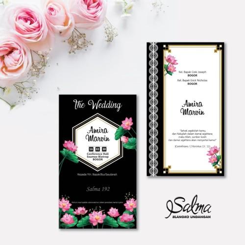 Foto Produk Blangko undangan pernikahan Salma 192 Free file setting dari Zaki Printing