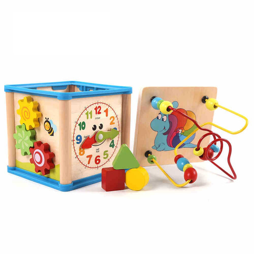 Foto Produk MB148 Mainan Anak Puzzle Kayu Wisdom Box Puzzle 3D / Puzzle Jam Shape - WISDOM BOX dari Mmtoys Indonesia
