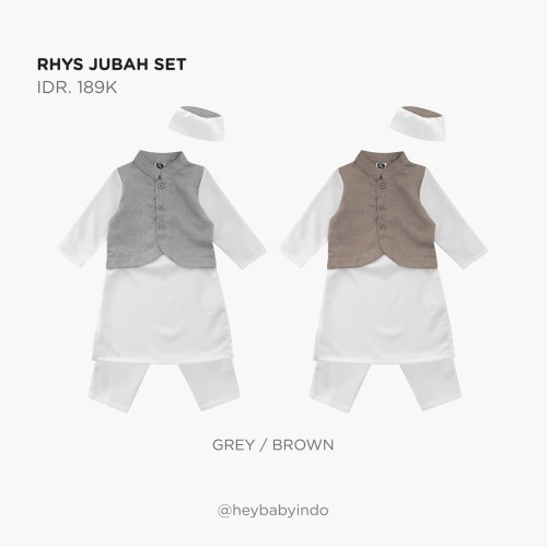 Foto Produk Hey Baby Rhys Jubah Set - Grey, 3-6m dari Hey! Baby