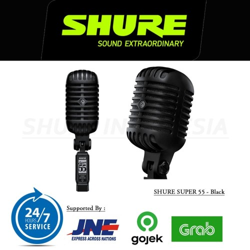Foto Produk SHURE SUPER 55 BLK Vocal Microphone Pitch Black Edition dari taskamera-id