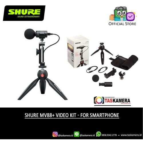 Foto Produk SHURE MV88+ Video Kit Mic for Smartphone dari taskamera-id