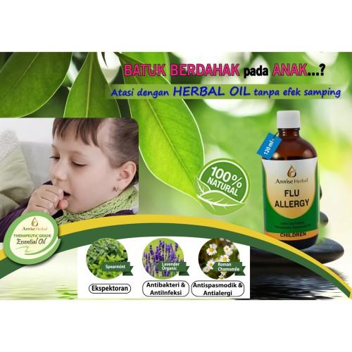 Foto Produk Obat Meredakan Batuk & Pilek, Flu Allergy Oil for Anak - anak 120ml dari anniseherbal