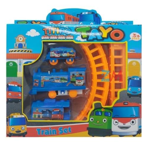 Foto Produk Train Set Titipo Tayo No.877-32 | Mainan Rel Kereta Api Tayo dari ciustoys