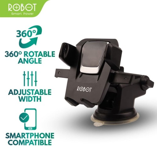 Foto Produk ROBOT RT-CH03 360° Rotatable Car Stent For iOS/Android Smartphone dari ROBOT OFFICIAL SHOP