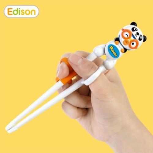 Foto Produk Edison Chopstick Pororo Panda Original Korea (Licensed)/ Sumpit Anak dari Marveila & Friends