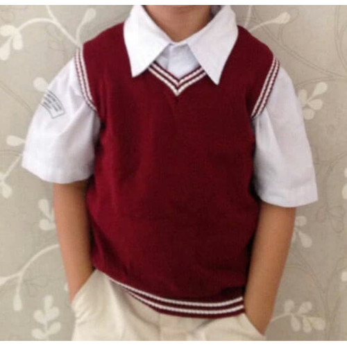 Foto Produk CLAY Okechuku Rompi Rajut Anak - anak TK SD Knit Vest Seragam Sekolah - Marun, 4 dari Okechuku