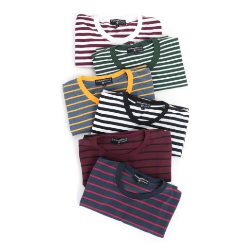 Foto Produk Kaos Garis Lengan Pendek Katun Stripes Unisex Premium Quality XXXL dari Daily Outfits DYO
