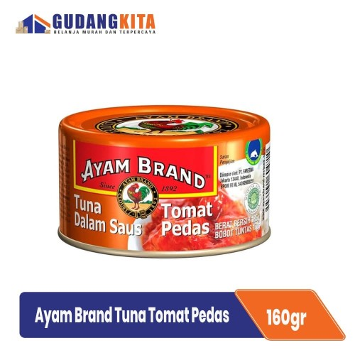 Foto Produk Ikan Tuna Saus Tomat Pedas Ayam Brand - Tuna Tomato Chilli 185G dari GUDANGKITA COM