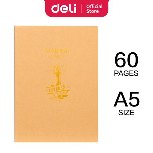 Foto Produk Deli notebook dengann Soft Cover binatang A5 60 halaman 4 pola FA560 - NAVIGATION dari Deli Stationery