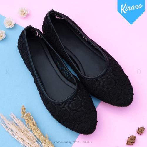 Foto Produk Flat Shoes Kerja Wanita Casual Santai JESIE FMD32 - Hitam, 37 dari Kiraro