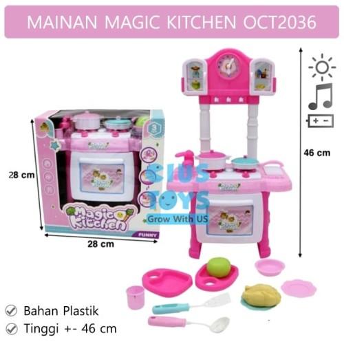 Foto Produk Magic Kitchen OCT2036 | Mainan Masak Masakan Kitchen Set Pink dari ciustoys