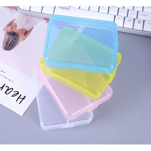 Foto Produk kotak plastik, kotak serba guna aksesoris , tempat masker 3 ply lipat - Merah Muda dari KAYO
